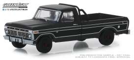 Ford  - F-100 1975 black - 1:64 - GreenLight - 27990D - gl27990D | Tom's Modelauto's
