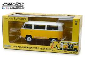 Volkswagen  - T2 Bus *Little Miss Sunshine* 1978 yellow/white - 1:24 - GreenLight - 84081 - gl84081GM | Toms Modelautos