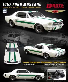 Ford  - Mustang *Peter Geoghegan* 1967 white/green - 1:18 - Acme Diecast - rar18006 - acmeRAR18006 | Tom's Modelauto's