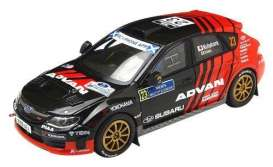 Subaru  - Impreza R4 #23 2011 black/red - 1:43 - IXO Models - KB1059 - ixKB1059 | Tom's Modelauto's