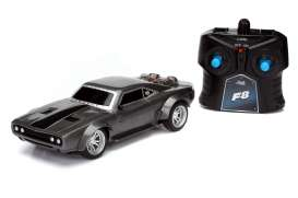 Dodge  - Ice Charger *Radio Control* 1970 dark grey - 1:24 - Jada Toys - 98310 - jada98310 | Tom's Modelauto's
