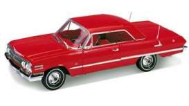 Chevrolet  - 1963 red - 1:18 - Welly - 19865Hr - welly19865Hr | Tom's Modelauto's