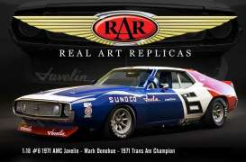 AMC  - Javelin #6 Mark Donahue 1971 red/white/blue - 1:18 - Acme Diecast - rar18005 - acmeRAR18005 | Tom's Modelauto's