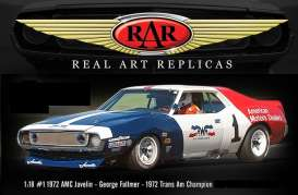 AMC  - Javelin #1 George Folmer 1971 red/white/blue - 1:18 - Acme Diecast - rar18004 - acmeRAR18004 | Tom's Modelauto's