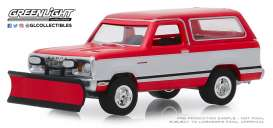 Dodge  - Ramcharger 1977 red/white - 1:64 - GreenLight - 35140C - gl35140C | Tom's Modelauto's