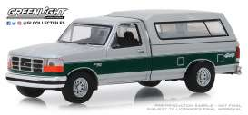 Ford  - F-150 XLT 1996 white/green - 1:64 - GreenLight - 35140E - gl35140E | Tom's Modelauto's