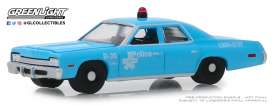 Dodge  - Monaco 1974 blue - 1:64 - GreenLight - 42890A - gl42890A | Tom's Modelauto's
