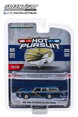 Ford  - LTD Crown Victoria 1987 blue - 1:64 - GreenLight - 42890B - gl42890B | Tom's Modelauto's