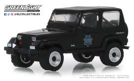 Jeep  - Wrangler 1994 black - 1:64 - GreenLight - 42890D - gl42890D | Tom's Modelauto's