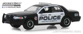 Ford  - Crown Victoria 2010 black/white - 1:64 - GreenLight - 42890E - gl42890E | Tom's Modelauto's