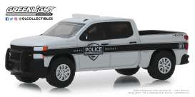 Chevrolet  - Silverado 2019 grey/white/black - 1:64 - GreenLight - 42890F - gl42890F | Tom's Modelauto's