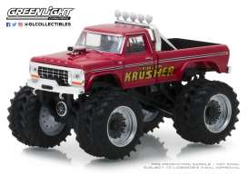 Ford  - F-250 Monster Truck 1973 red - 1:64 - GreenLight - 49020A - gl49020A | Tom's Modelauto's