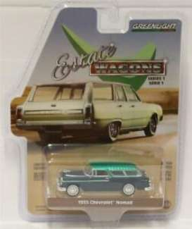 Chevrolet  - Nomad Estate Wagon 1955 glacier blue/shoreline blue - 1:64 - GreenLight - 29910A - gl29910A-GM | Tom's Modelauto's