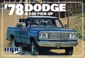 Dodge  - D100 Custom Pickup 1978  - 1:25 - MPC - 901 - mpc901 | Toms Modelautos