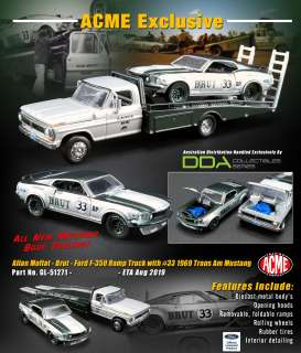 Ford  - Ramp Truck 1969 white/green/silver - 1:64 - Acme Diecast - 51271 - acme51271 | Toms Modelautos