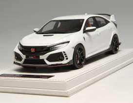 Honda  - Civic Type R 2017 white - 1:18 - MotorHelix - 001lhd - MH001lhdW | Toms Modelautos