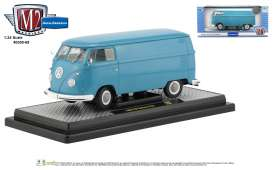 Volkswagen  - Delivery Van 1960 blue/white/grey - 1:24 - M2 Machines - 40300-69A - M2-40300-69A | Tom's Modelauto's