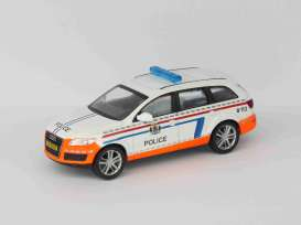 Audi  - Q7 white/orange - 1:43 - Magazine Models - Pow003 - MagPow003 | Tom's Modelauto's