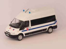 Ford  - Transit CRS white/blue - 1:43 - Magazine Models - Pow018 - MagPow018 | Toms Modelautos