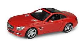 Mercedes Benz  - 2012 red - 1:24 - Welly - 24041Hr - welly24041Hr | Tom's Modelauto's
