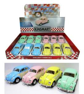 Volkswagen  - Classic Beetle 1967 various - 1:32 - Kinsmart - 5375DY - KT5375DY | Toms Modelautos