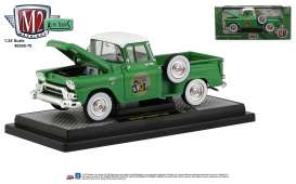 GMC  - Stepside 1958 green - 1:24 - M2 Machines - 40300-70B - M2-40300-70B | Tom's Modelauto's