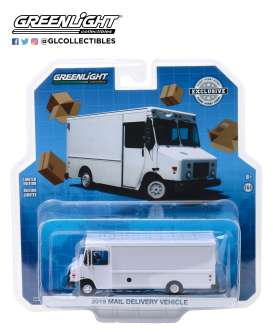 non  - Mail Truck 2019 white - 1:64 - GreenLight - 30097 - gl30097 | Toms Modelautos