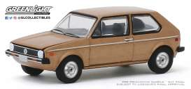 Volkswagen  - Rabbit 1977 brown - 1:64 - GreenLight - 30099 - gl30099 | Toms Modelautos