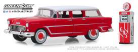 Chevrolet  - Two-Ten Townsman 1955 red/white - 1:64 - GreenLight - 97070A - gl97070A | Toms Modelautos