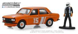 Datsun  - 510 1970 orange - 1:64 - GreenLight - 97070D - gl97070D | Tom's Modelauto's