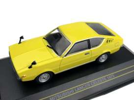 Mitsubishi  - Lancer Celeste 1975 yellow - 1:43 - First 43 - F43126 - F43-126 | Toms Modelautos