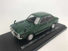 Mitsubishi  - Lancer 1600 GSR 1973 dark green - 1:43 - Norev - 800193 - nor800193 | Tom's Modelauto's