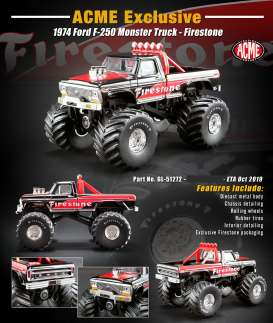 Ford  - F-250 1974 black/red - 1:64 - Acme Diecast - 51272 - acme51272 | Tom's Modelauto's