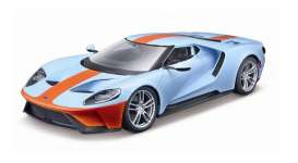 Ford  - GT 2017 gulf blue/ orange - 1:18 - Maisto - 31384bo - mai31384bo | Toms Modelautos