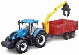 New Holland  - T7.315 blue - 1:32 - Bburago - 31657 - bura31657 | Tom's Modelauto's