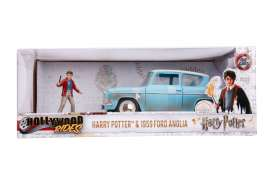 Ford  - Anglia *Harry Potter* 1959 blue/white - 1:24 - Jada Toys - 31127 - jada31127 | Tom's Modelauto's