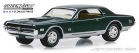 Mercury  - Cougar XR-7 1968 green - 1:64 - GreenLight - 28000A - gl28000A | Tom's Modelauto's