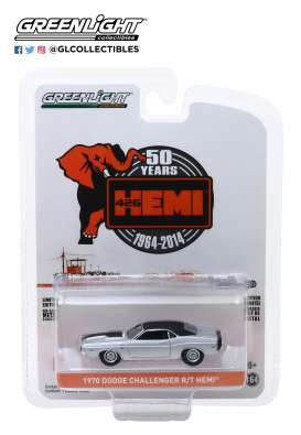 Dodge  - HEMI Challenger 1970 grey - 1:64 - GreenLight - 28000B - gl28000B | Tom's Modelauto's