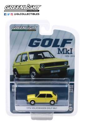 Volkswagen  - Golf Mk1 1974 yellow - 1:64 - GreenLight - 28000C - gl28000C | Toms Modelautos