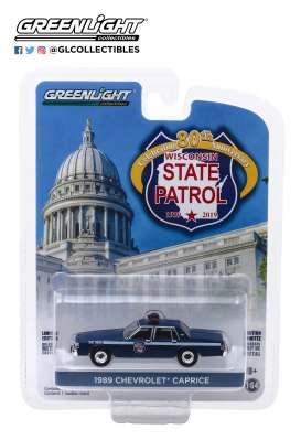 Chevrolet  - Caprice  1989 blue - 1:64 - GreenLight - 28000D - gl28000D | Tom's Modelauto's