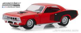 Plymouth  - Hemi Cuda 1971 orange - 1:64 - GreenLight - 28000E - gl28000E | Tom's Modelauto's