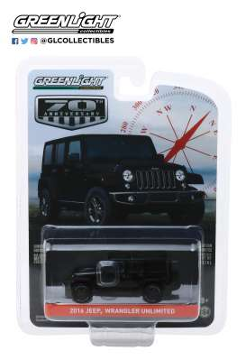 Jeep  - Wrangler 2016 black - 1:64 - GreenLight - 28000F - gl28000F | Toms Modelautos