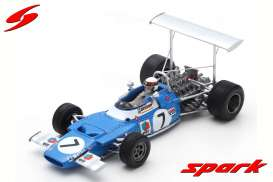 Matra  - Ms80 1969 blue/white - 1:43 - Spark - s7190 - spas7190 | Tom's Modelauto's