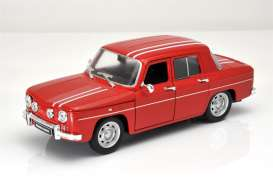 Renault  - 8 Gordini 1964 red/white - 1:24 - Welly - 24015r - welly24015r | Toms Modelautos