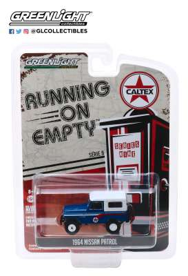 Nissan  - Patrol 1964 blue/white - 1:64 - GreenLight - 41090B - gl41090B | Toms Modelautos