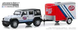 Jeep  - Wrangler 2015 white/black/red - 1:64 - GreenLight - 32180B - gl32180B | Tom's Modelauto's