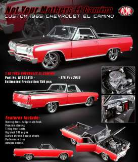 Chevrolet  - El Camino Custom 1965 red/black - 1:18 - Acme Diecast - 1805410 - acme1805410 | Tom's Modelauto's