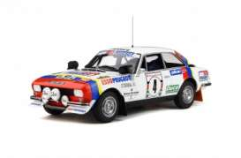 Peugeot  - 504 1978 white/red/blue - 1:18 - OttOmobile Miniatures - ot309 - otto309 | Tom's Modelauto's