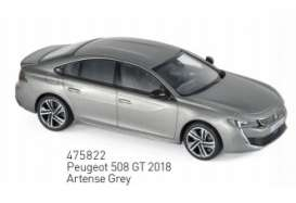Peugeot  - 2018 grey - 1:43 - Norev - 475822 - nor475822 | Tom's Modelauto's