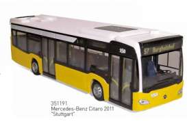 Mercedes Benz  - 2011 white/yellow - 1:43 - Norev - 351191 - nor351191 | Toms Modelautos